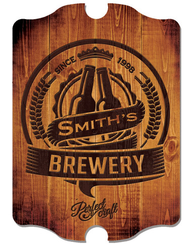 Personalized Brewery Hardboard Decorative Wall Sign