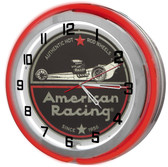 American Racing Red Neon Clock