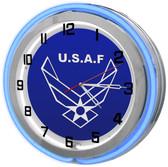 USAF Blue Neon Clock