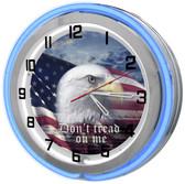 American Patriotic Neon Clock