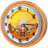 Yosemite Sam Neon Light Garage Clock
