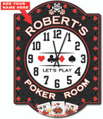 Poker Room Personalized Clock