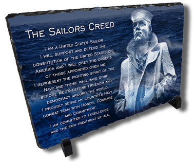 The Sailors Creed Stone Plaque