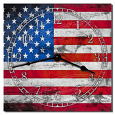 American Flag Kitchen Clock
