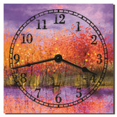 Autumn Sunset Kitchen Clock