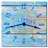 Life Better At The Beach Wall Clock