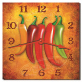 Chilli Peppers Decorative Kitchen Clock