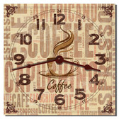 Cappuccino Coffee Decorative Kitchen Clock