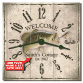 Bass Cottage Personalized Decorative Kitchen Clock