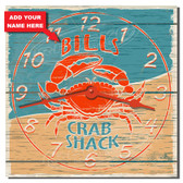 Crab Shack Personalized Decorative Kitchen Clock