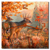 Deer Wilderness Decorative Wall Clock