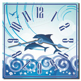 Dolphin Play Decorative Kitchen Clock