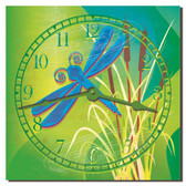 Dragonfly Garden Decorative Kitchen Clock