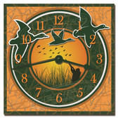 Duck Hunting Decorative Kitchen Clock