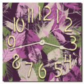 Fall Leaves Decorative Kitchen Wall Clock