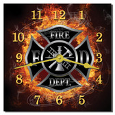 Fire Department Decorative Kitchen Wall Clock