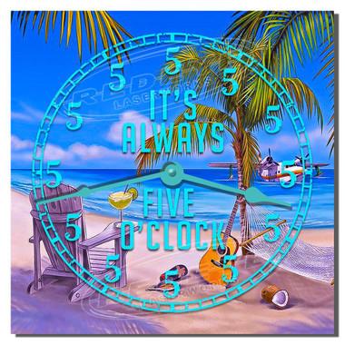 Five O'clock Somewhere Decorative Kitchen Wall Clock