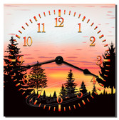 Wilderness Sunset Decorative Kitchen Wall Clock
