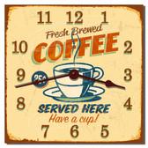 Retro Coffee Diner Decorative Kitchen Clock