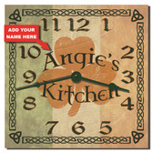 Irish Kitchen Personalized Decorative Kitchen Clock