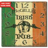 Irish Pub Personalized Decorative Wall Clock