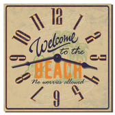 Beach Welcome Decorative Kitchen Clock