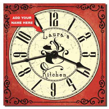 Classic Kitchen Personalized Decorative Wall Clock