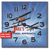 Pilots Landing Personalized Decorative Wall Clock
