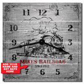 Railroad Personalized Decorative Wall Clock