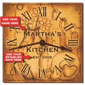 Rustic Kitchen Personalized Decorative Wall Clock