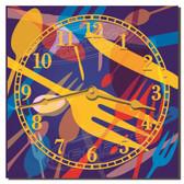 Silverware Splash Decorative Kitchen Wall Clock