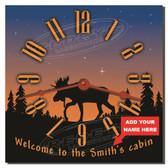 Sunrise Cabin Personalized Decorative Wall Clock