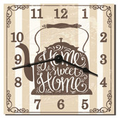 Teapot Home Sweet Home Decorative Wall Clock