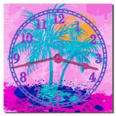 Tropical Splash Decorative Kitchen Wall Clock