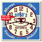 Vintage Kitchen Personalized Decorative Wall Clock
