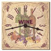 Wine & Friends Decorative Kitchen Wall Clock