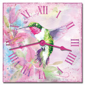 Humming Bird Garden Decorative Wall Clock