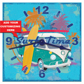 Surfer Beach Personalized Decorative Wall Clock