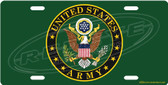 United States Army License Plate Tag