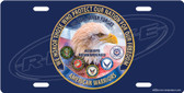 Honoring America's Warriors License Plate Tag