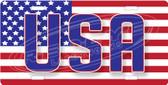 USA Patriotic License Plate Tag