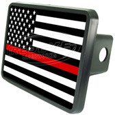Firefighter Flag Trailer Hitch Plug