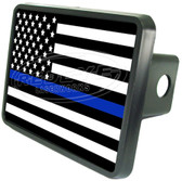 Police Flag Trailer Hitch Plug