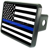 Police Flag Trailer Hitch Plug