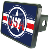 USA Stars & Stripes Trailer Hitch Plug
