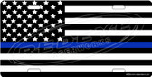 Police Flag License Plate Tag