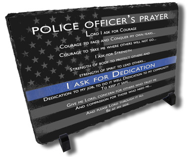 Police Officers Prayer Stone Plaque