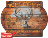 Personalized Deer Cabin Wall Sign