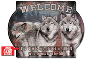 Personalized Wolf Den Cabin Welcome Sign