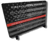 Firefighters Prayer Flag Stone Plaque